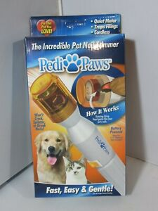 Pet Nail Trimmer Pedi Paws for Dogs & Cats Battery Powered Grooming Filing