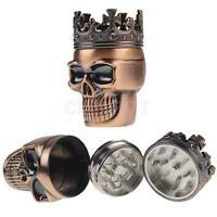 Metal Skull Magnetic Grinder Tabacco Spice Crusher Shark Teeth 45mm 3pc Herb