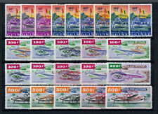 1960 Guinea Lot 24 stamps MNH Olympia errors inverted/double overprint colours