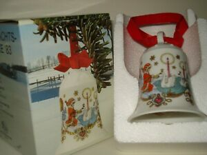 Hutschenreuther Weihnachtsglocke 1984 mit buntem Karton u. a. später