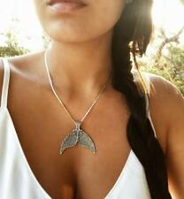 Sexy Women Retro Silver Mermaid Tail Chain Necklace Pendant Drop Jewelry Gift UK