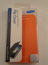Original Samsung Galaxy S4 Flip Cover Orange OEM Folio Case