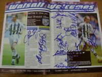22/04/2000 Autographed Programme: Walsall v West Bromwich Albion - Hand Signed B