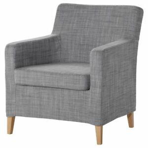 "New 0riginal IKEA cover set for Karlstad 28"" Small Armchair in ISUNDA GREY"