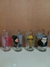 """Vintage Christmas Glass Tumblers From The Movie""""A Christmas Story """""""