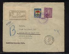 Paraguay registered cover to Argentina 1935 Kel0316