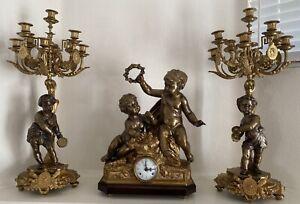 antique bronze clock Italian