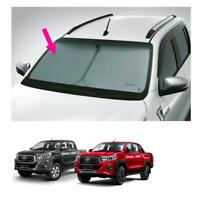 Fits Toyota Hilux Revo Rocco 4Dr 15 19 Front Sun Shade Uv Coating Silver Genuine