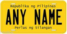 Philippines Any Name Number Novelty Auto Car License Plate C01