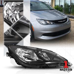 Right Passenger Side Black Headlight Lamp Assembly for 17-20 Chrysler Pacifica