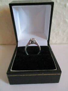 Platinum diamond 0.25ct solitaire ring
