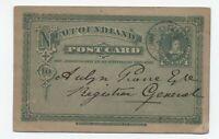 1895 Newfoundland 1 cent postal card UX3 [y5547]