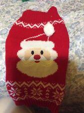 Simply Dog Santa Face Sweater Size S