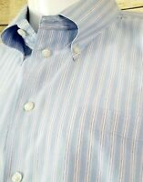 Nautica Mens Long Sleeve Button Down Dress Shirt Size 16-1/2 34/35 - Fast Ship