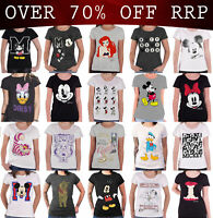 Official Disney T Shirt Mickey Minnie Mouse Princess new Womens Skinny Fit