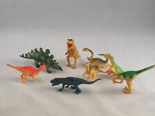 "Lot of 8 Small Dinosaurs Toys Figures Hard Plastic 3""-4 1/2"" - Euc - Eb221"