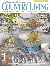 Country Living magazine Autumn home decor Armchair gardening Farmhouse restore