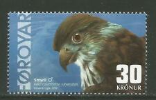 Faroe Is 2002 Falcon 30kr high value-Attractive Bird Topical (423) Mnh