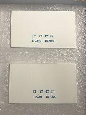 Lava Compatible Zirconia Block (72 x 42 x 25) Extreme Translucent (ET) 2 Blocks