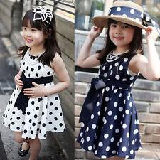 Girl Dress Summer Dress Girl Clothes Polka Dot Dress Kid Clothes Chiffon Cute