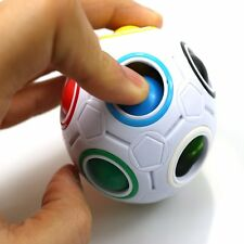 Spheric Ball Rainbow Magic Cube 3D Puzzle Twist Toy Brain Kids Gift Toy Well