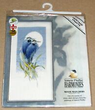 "Heritage / Valerie Pfeiffer Harmonies ""Moon Watchers"" Birds Cross Stitch Kit NIP"