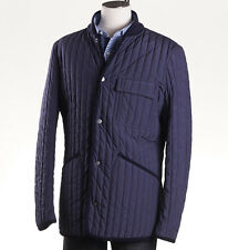 NWT $1195 CANALI Navy 'Rain & Wind Tech' Quilted Insulated Jacket 38 R (Eu 48) M