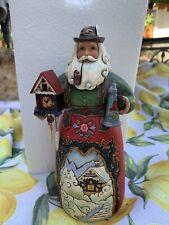 "Jim Shore German Santa 4.75"" Christmas Figurine Germany 2011 Pipe Clock Stein"