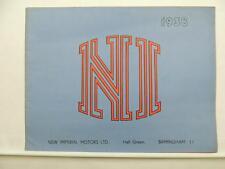1938 New Imperial Motors Poster Price List Brochure Clubman STD Unit L6880