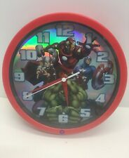 Marvel Avengers Talking Hulk Clock Works Good Condition Battery Included Red