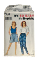 Simplicity 8254 Misses Pants Shorts Top Sewing Pattern Size 10-20 OOP UNCUT Easy
