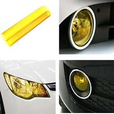 "Yellow Car Taillight Fog Head Light Headlight Tint Film Wrap 12x24"" Hot"