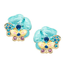 NEW Vintage 50s Retro Rockabilly Tropical Flower Earrings - Very Betsey-Esque