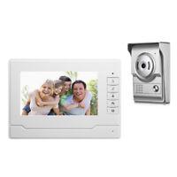 Nouveau 7 pouce Video Porte Telephone Systeme Mains Libres Interphone Filaire 71
