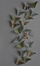 25 VINTAGE CHIC 3D BUTTERFLIES WALL DECORATION, STICKERS, TABLE DECORATION