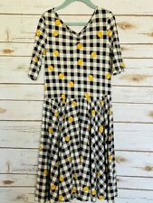 Dot Dot Smile Twirl Dress 8/10 Worn Once Buffalo Plaid Leggings Material