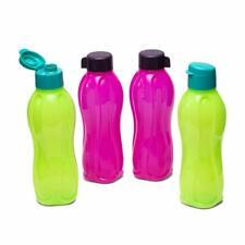 Tupperware Aquasafe Plastic Fliptop and Normal Cap Water Bottle 1L 4pc