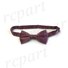 New KID'S BOY'S 100% Polyester Pre-tied Bow tie Mauve Purple formal wedding