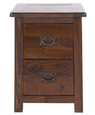 Core Products 2 Drawer Petite Bedside Cabinet Pine Rich Dark Brown 32x36x53 Cm