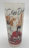 Vintage Federal Frosted WILD WEST Cliff Dwellers Glass Tumbler