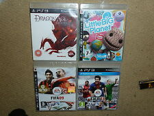 JOB LOT 4 x SONY PS3 GAMES Boxed Dragon Age Origins Little Big Planet FIFA 13 09