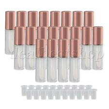 1.2ml Empty Refill Clear Lip Gloss Tube Bottle Black Cap Container Pack of 20