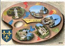 CP 02 AISNE - Saint-Gobain - Multivues colorisées