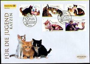 Frg 2004: Cats post-Jugend-Fdc Der No 2402-2406! Berlin Special Postmark! 20-07