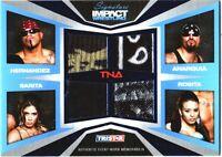 TNA Mexican America 2011 Signature Impact BLUE Quad Relic Card SN 15 of 25