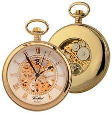 Woodford Gold Plated Open Centre Mechanical Pocket Watch skeleton movement 1030