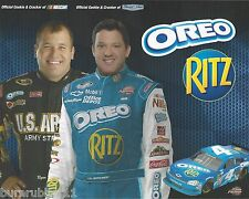 "2011 TONY STEWART / RYAN NEWMAN ""OREO RITZ"" #4 NASCAR NATIONWIDE POSTCARD"