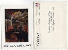 1975 JOHN ANGELINI Exhibition Card CHATHAM NEW JERSEY Artist ART AWS Gallery 9