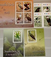 LESOTHO 2007 1997-04 Block 212-13 1400-06 Birds Vögel Fauna Caracar Stork MNH