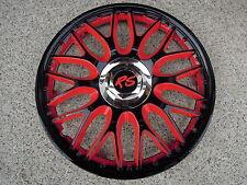 4 Alu-Design Radkappen in 15 Zoll Orden rot/schwarz VW Touran Mazda 3